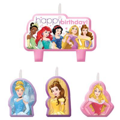 Disney Prinsesse sæt med fødselsdagslys