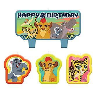 Lot de bougies d'anniversaire La Garde du Roi Lion