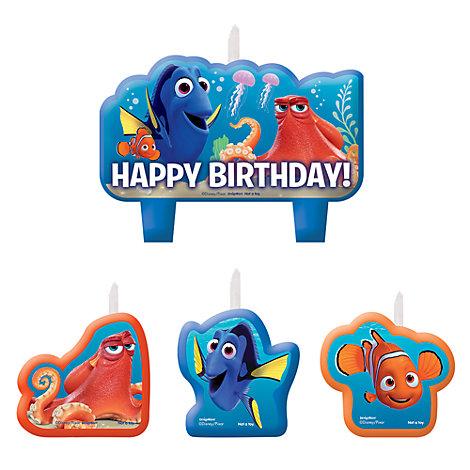 Lot de bougies d'anniversaire Le Monde de Dory