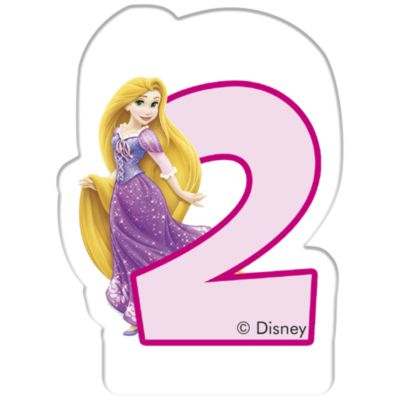 Disney Princess Birthday Candle, Age 2