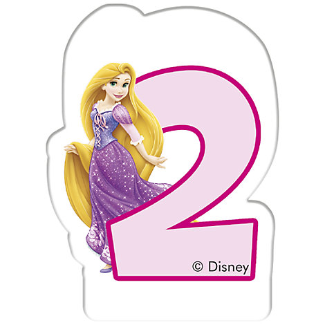 Disney Prinzessin - Geburtstagskerze 2 Jahre