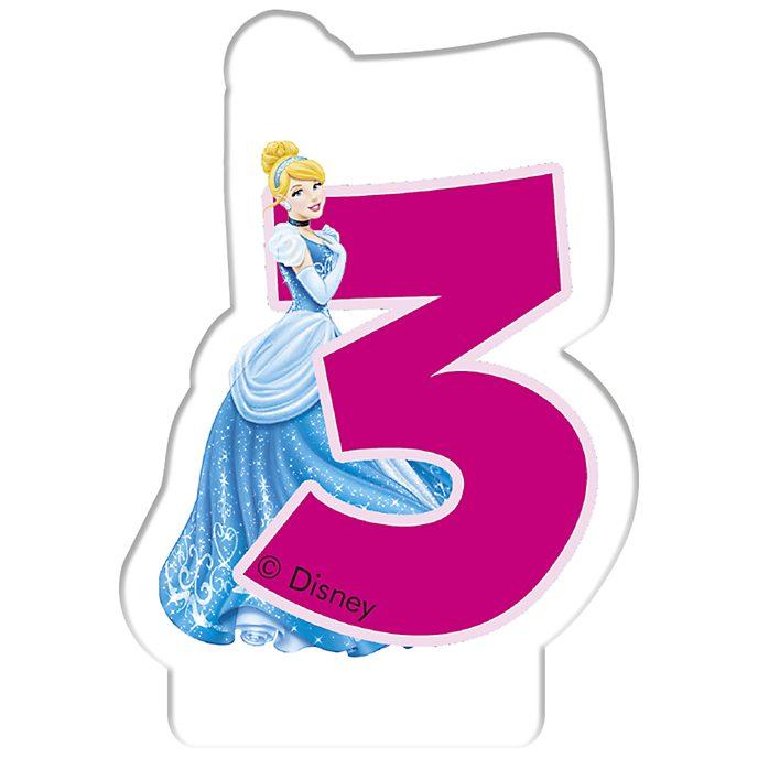 Disney Princess Birthday Candle Age 3