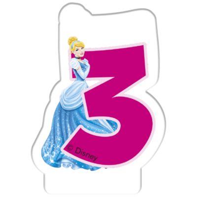Disney Princess Birthday Candle, Age 3