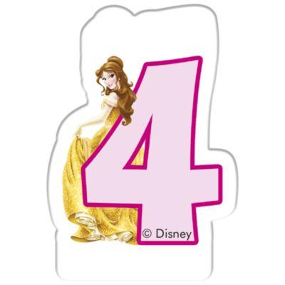 Bougie d'anniversaire Princesses Disney, 4 ans