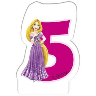 Vela cumpleaños princesa Disney, 5 años