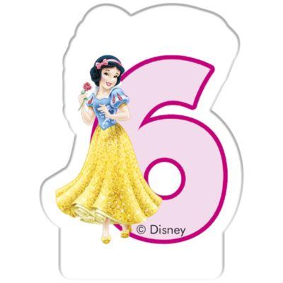 Bougie d'anniversaire Princesses Disney, 6 ans