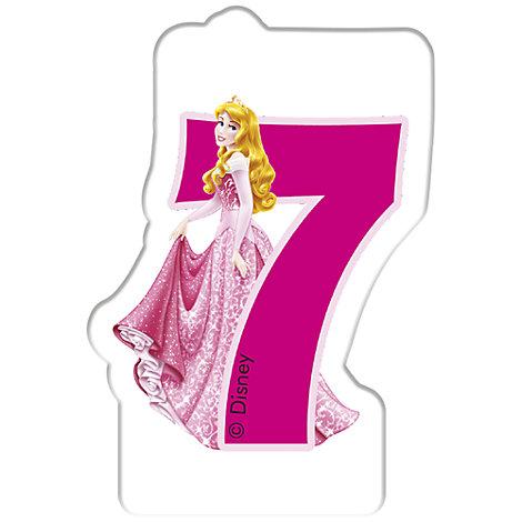 Bougie d'anniversaire Princesses Disney, 7 ans