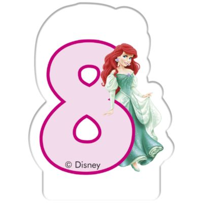 Disney Princess Birthday Candle, Age 8
