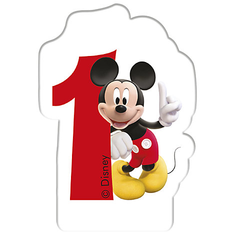 Mickey Mouse Birthday Candle Age 1