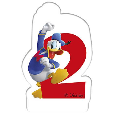 Vela cumpleaños Pato Donald, 2 años