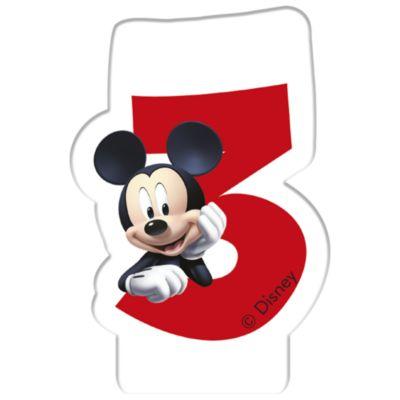 Vela cumpleaños Mickey Mouse, 3 años