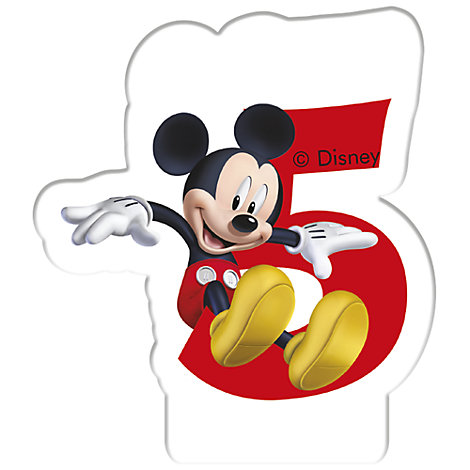 Bougie d'anniversaire Mickey Mouse, 5 ans