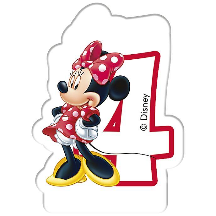 Minnie Maus - Geburtstagskerze 4 Jahre