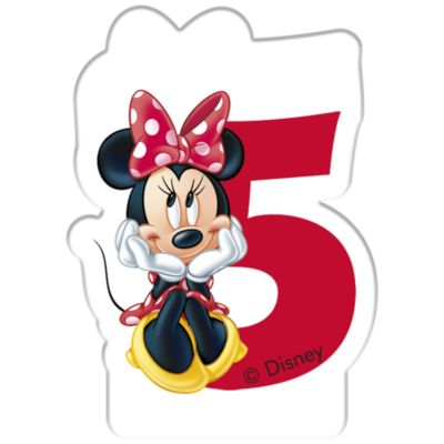 Minnie Mouse Birthday Candle, Age 5