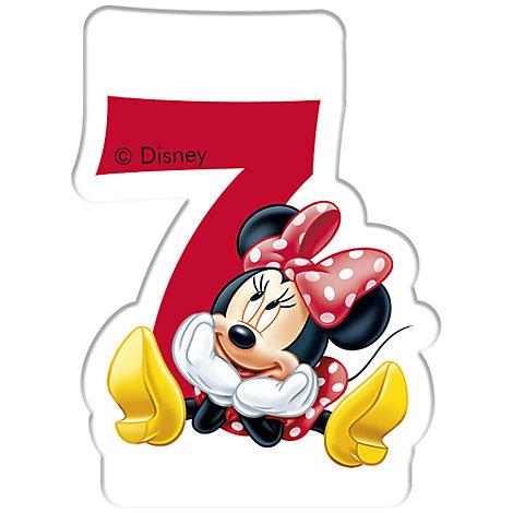Bougie d'anniversaire Minnie Mouse, 7 ans