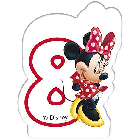 Minnie Maus - Geburtstagskerze 8 Jahre