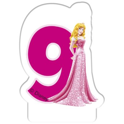 Vela cumpleaños princesa Disney, 9 años
