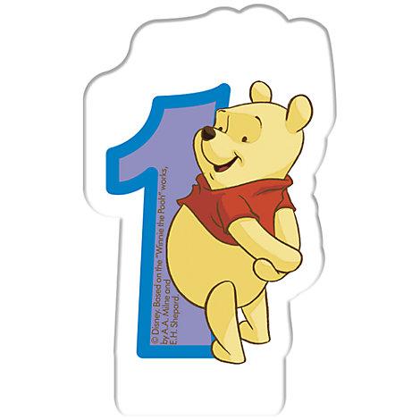 Winnie Puuh - Geburtstagskerze 1 Jahr