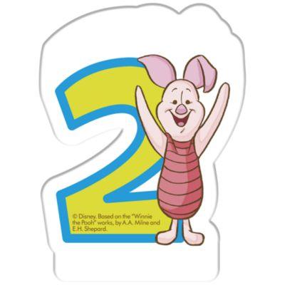Bougie d'anniversaire Winnie l'Ourson, 2 ans