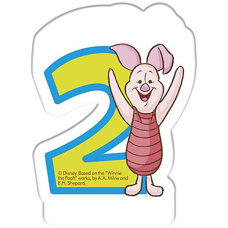 Vela cumpleaños Winnie the Pooh, 2 años