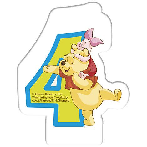 Vela cumpleaños Winnie the Pooh, 4 años