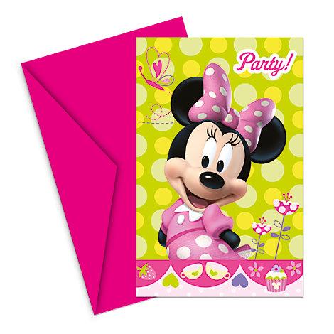 Minnie Maus – Set mit Einladungskarten (6 Stück)