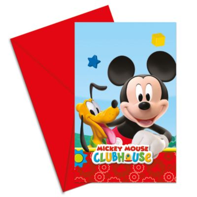 Ensemble de 6 invitations de fête Mickey