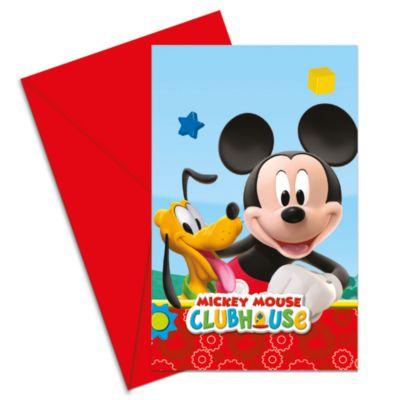 Micky Maus – Set mit Einladungskarten (6 Stück)
