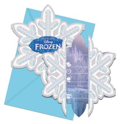 Die Eiskönigin - Völlig unverfroren – Set mit Einladungskarten (6 Stück)
