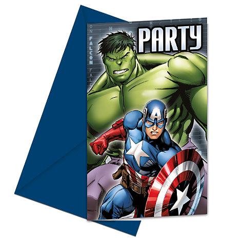 Invitaciones Los Vengadores unidos (6 unidades)