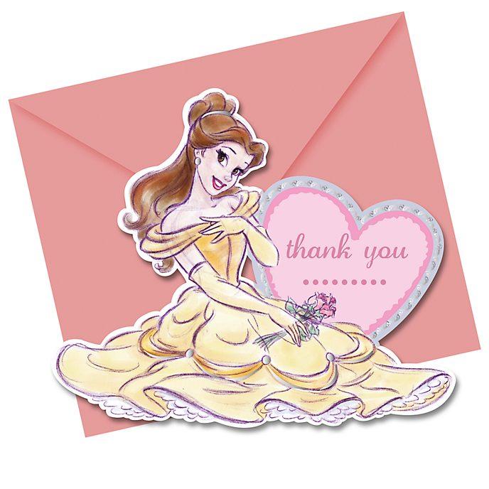Disney Store Disney Princess 6x Thank You Card Set
