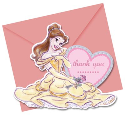 Disney Princess 6x Thank You Card Set