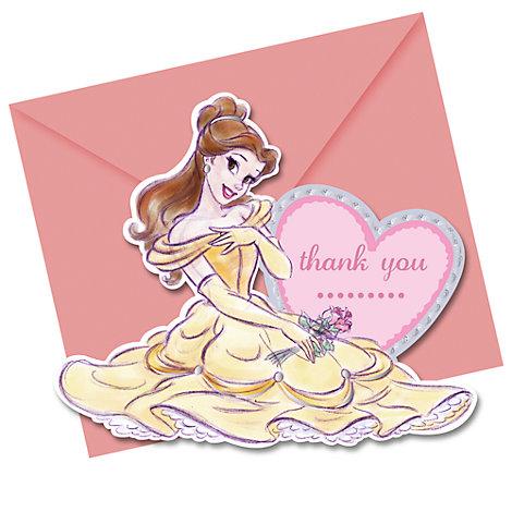 Tarjetas agradecimiento princesa Disney (6 u.)