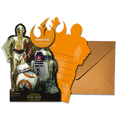 Droids 6x Thank You Card Set, Star Wars: The Force Awakens