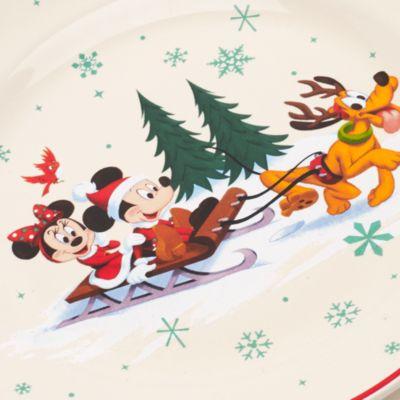 Walt Disney World - Micky und Minnie Maus Weihnachtsteller
