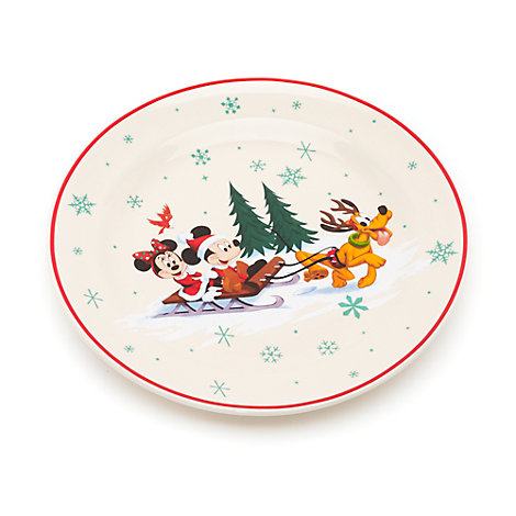 Mickey og Minnie Mouse juletallerken, Walt Disney World