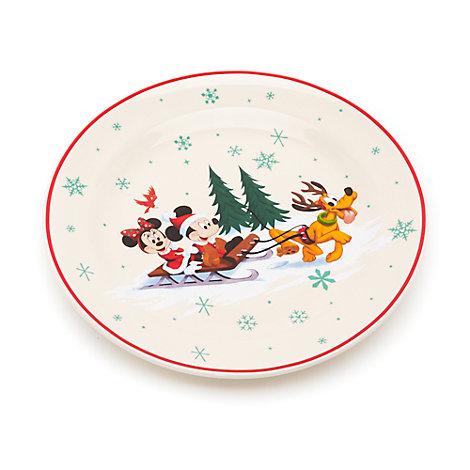 Plato navideño Minnie y Mickey Mouse, Walt Disney World
