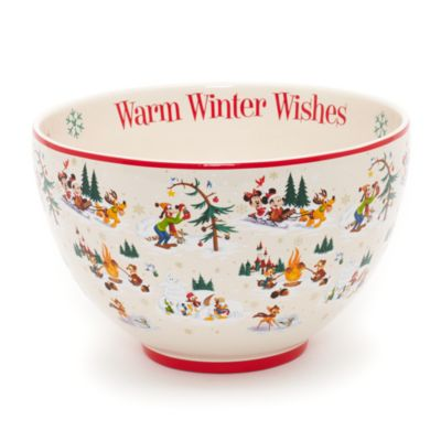Mickey Mouse and Friends Christmas Serving Bowl, Walt Disney World