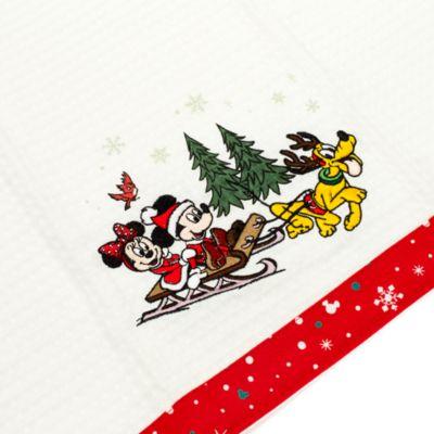 Ensemble de torchons de Noël Le Monde de Walt Disney