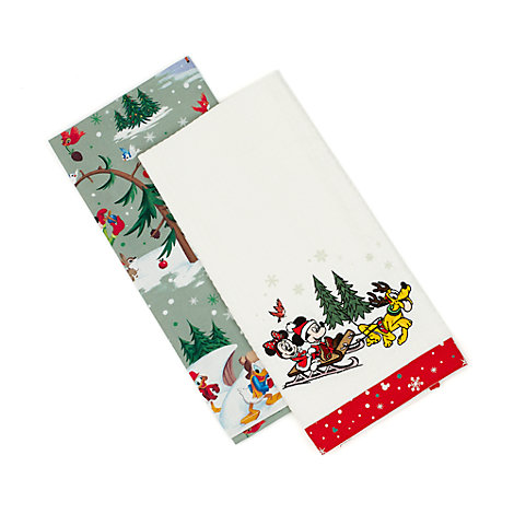 Set strofinacci da cucina natalizi Walt Disney World