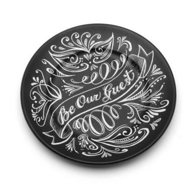 Skønheden og Udyret Be Our Guest-tallerken i sort