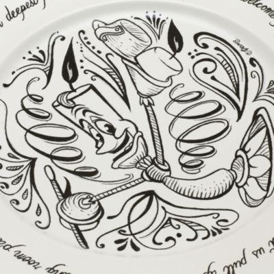 Skønheden og Udyret Be Our Guest-middagstallerken