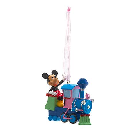 Mickey Mouse julepynt med tog, Disneyland Paris