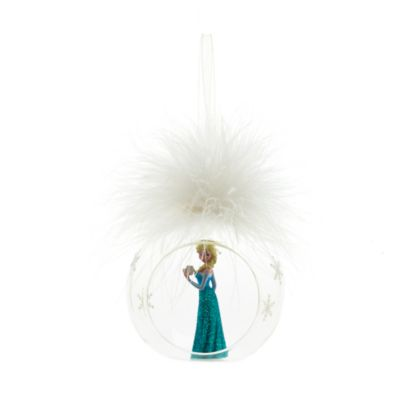 Palla di Natale con piuma Elsa, Disneyland Paris