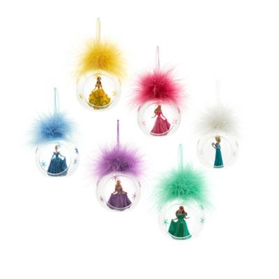 Disneyland Paris - Rapunzel Weihnachtsbaumkugel mit Federschmuck