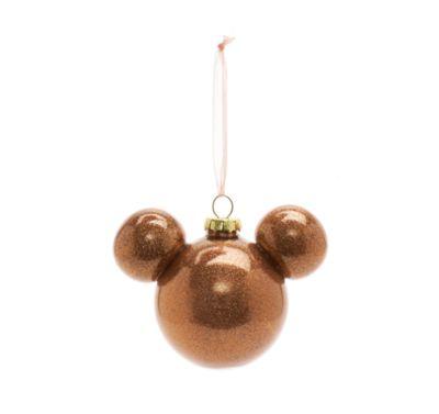 Bola Navidad Mickey Mouse rosa tono dorado, Disneyland Paris