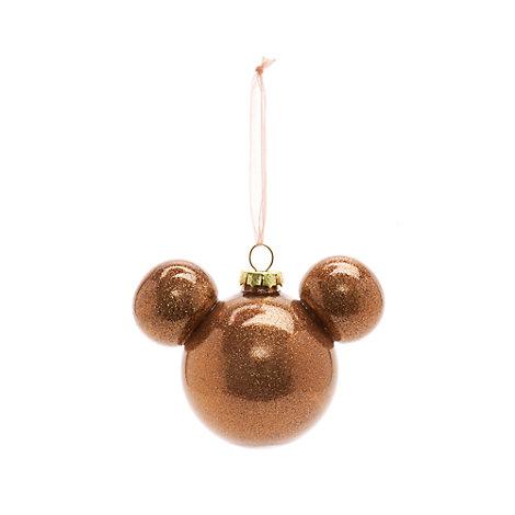 Rosagylden Mickey Mouse julekugle, Disneyland Paris
