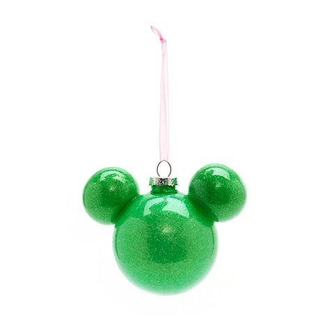 Bola Navidad Mickey Mouse verde, Disneyland Paris