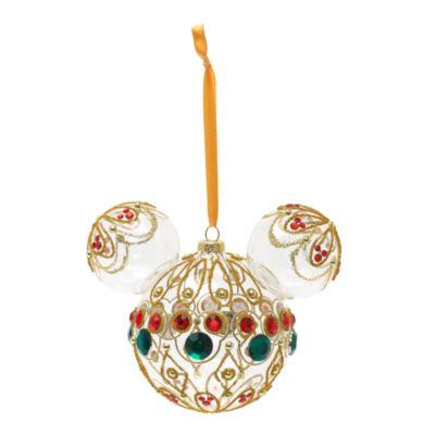 Walt Disney World - Micky Maus Silhouette mit Juwelen Dekorationsstück