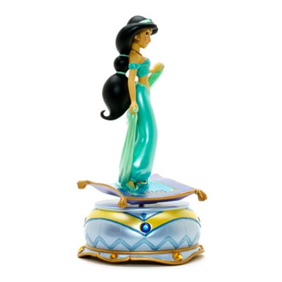 Disneyland Paris Prinsessan Jasmin statyett med speldosa, Aladdin